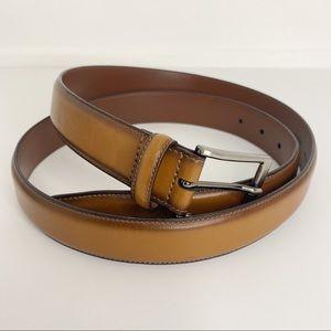 Perry Ellis Portfolio Full Grain Leather Belt   42